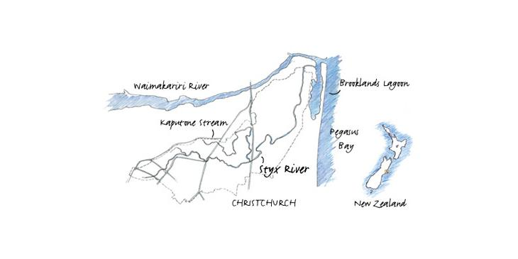 Line Drawing of the Styx River Catchment